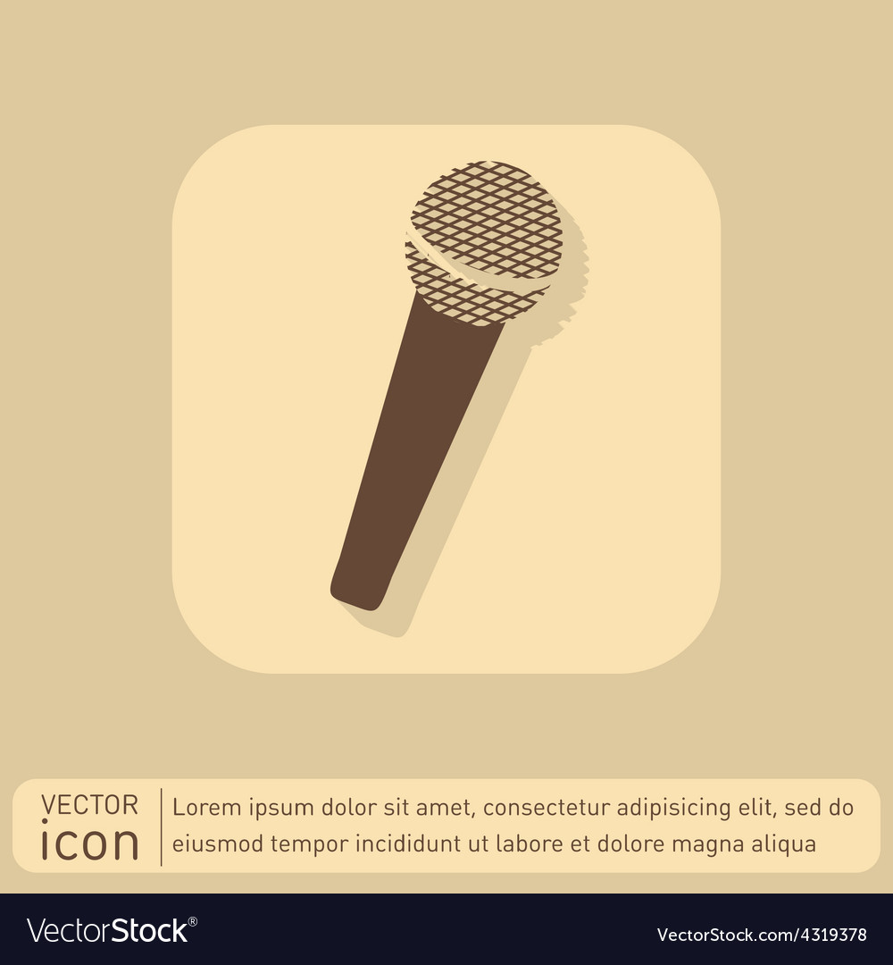 Microphone musical symbol singing pop sign vector   Price: 1 Credit (USD $1)