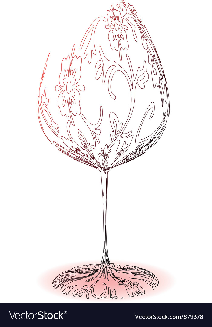 Stylized wineglass vector | Price: 1 Credit (USD $1)