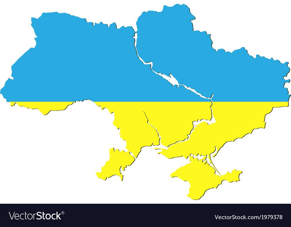 Ukraine flag vector | Price: 1 Credit (USD $1)