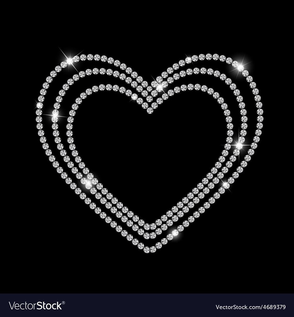 Abstract luxury black diamond background vector | Price: 1 Credit (USD $1)