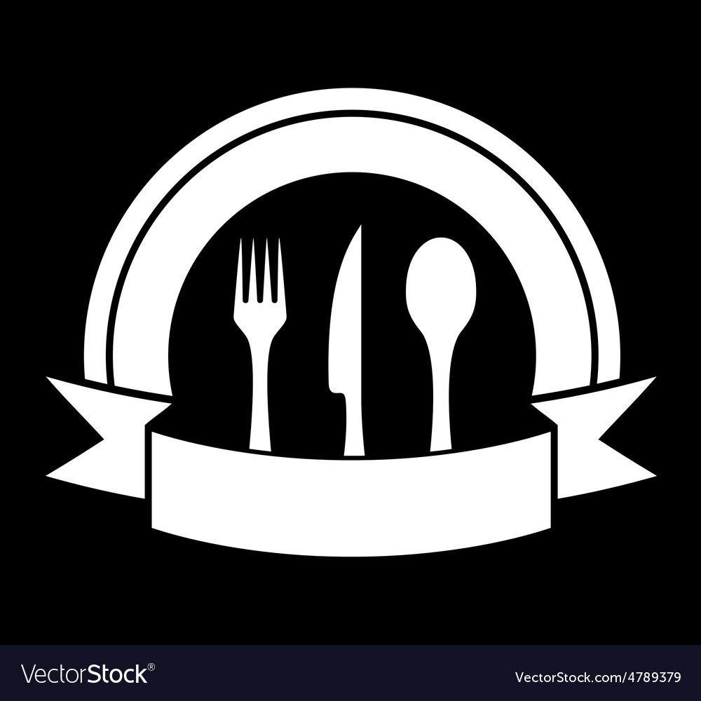 Black food icon for restaurant vector | Price: 1 Credit (USD $1)