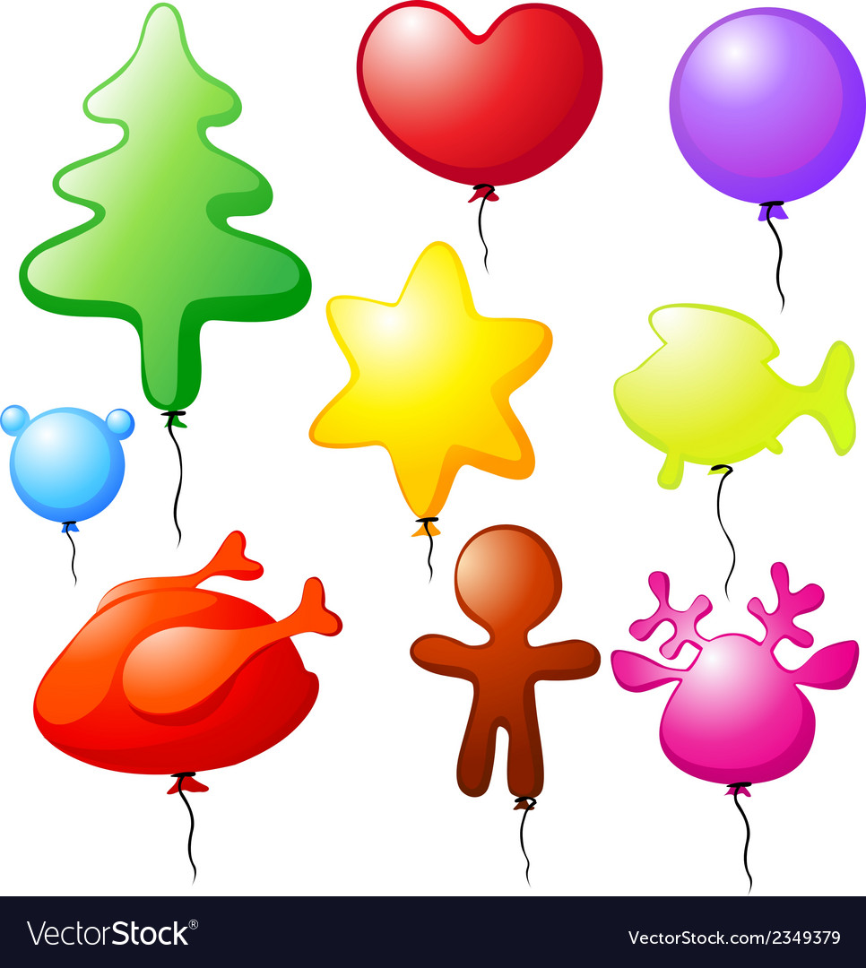 Christmas balloons - speech bubble vector | Price: 1 Credit (USD $1)