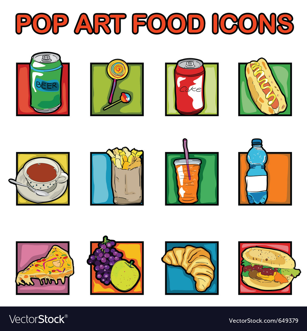 Classic food icons vector | Price: 1 Credit (USD $1)