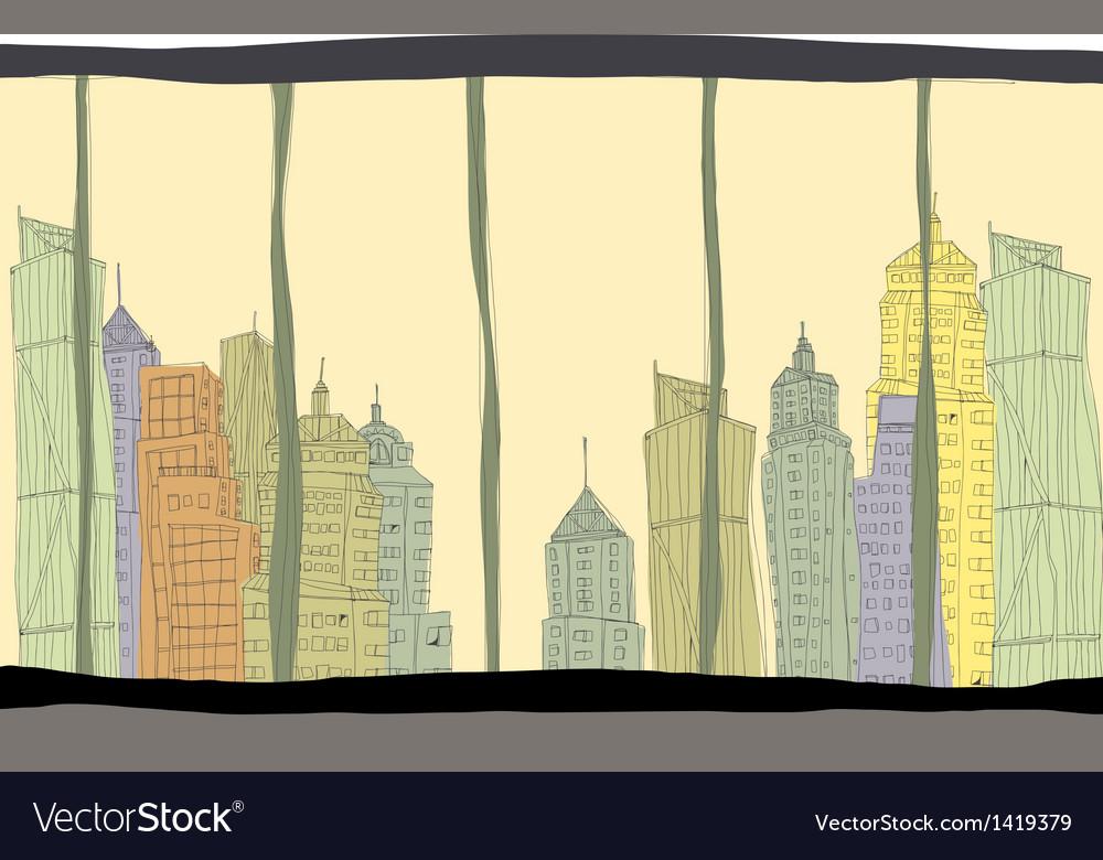 Creative cityscape vector   Price: 1 Credit (USD $1)