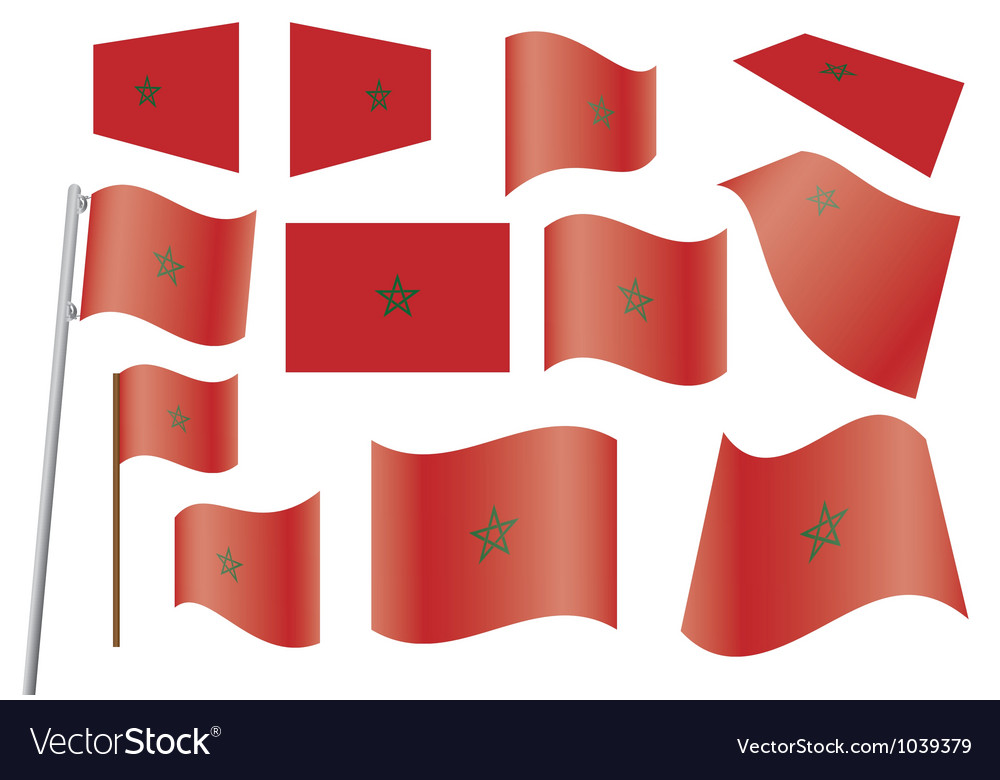 Flag of morocco vector | Price: 1 Credit (USD $1)