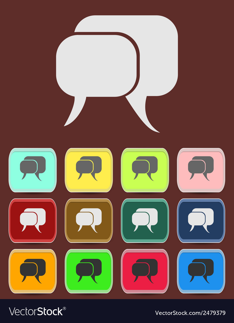 Flat icon of a communication - dialogue vector | Price: 1 Credit (USD $1)