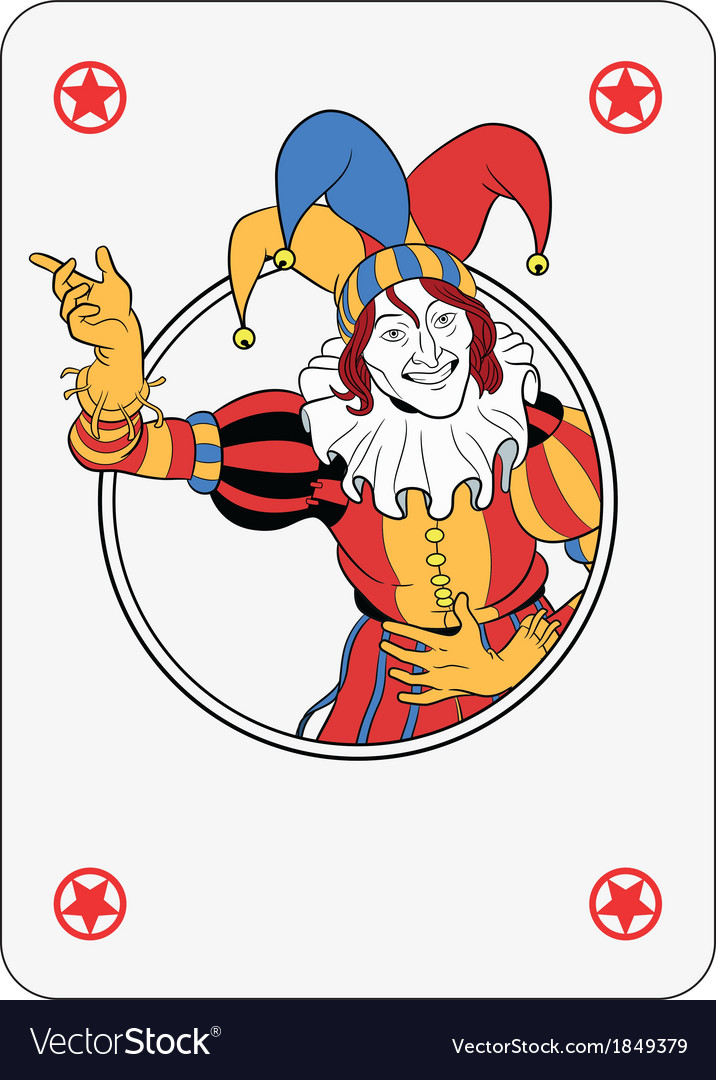 Joker playing card vector | Price: 1 Credit (USD $1)