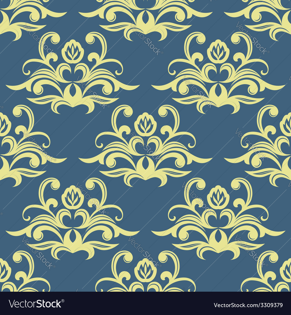 Pretty floral arabesque seamless pattern vector | Price: 1 Credit (USD $1)