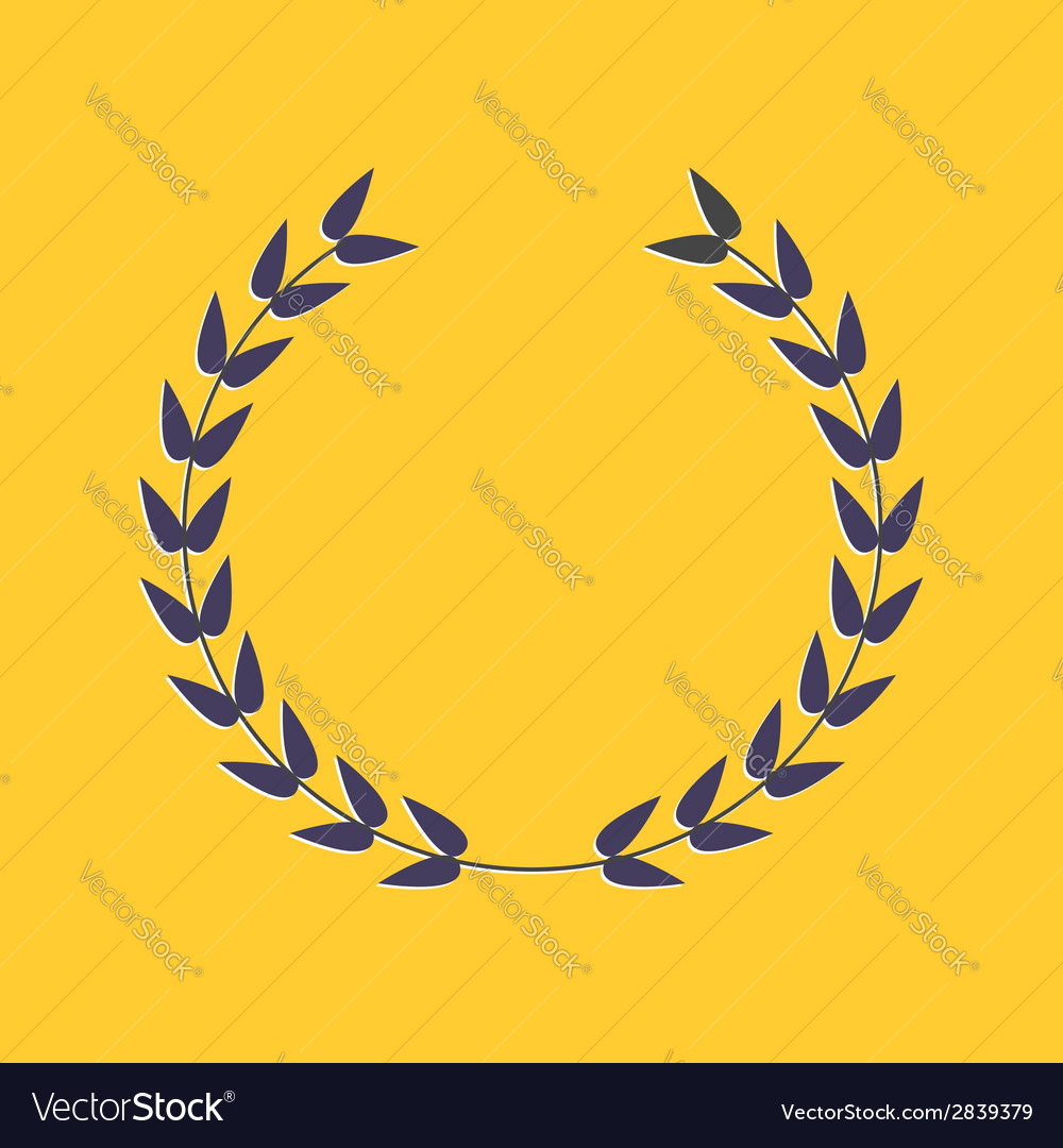 Round laurel foliate award concept flat design sty vector | Price: 1 Credit (USD $1)