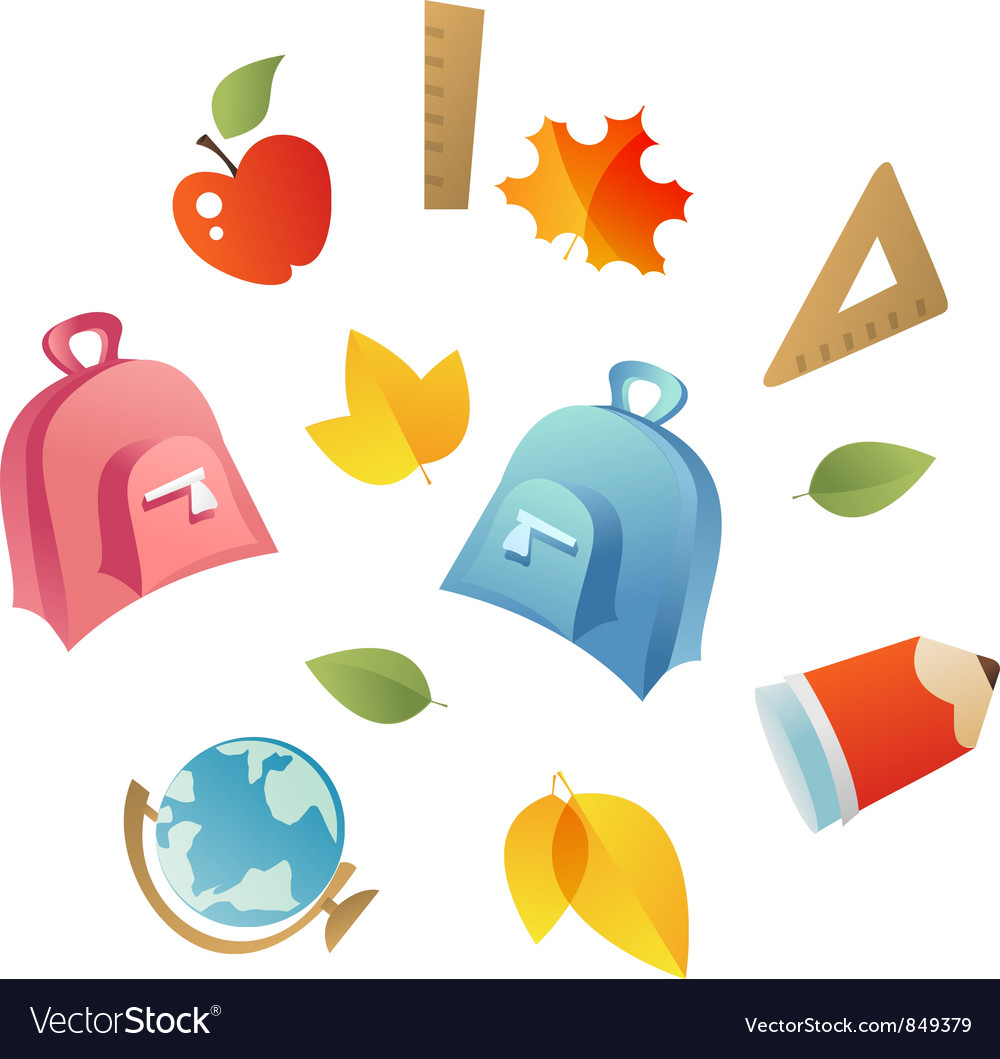 School icons vector | Price: 1 Credit (USD $1)