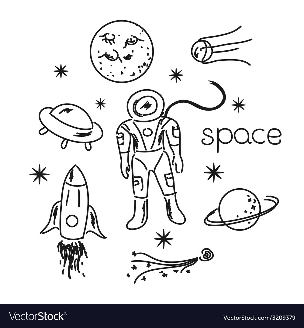 Space objects vector | Price: 1 Credit (USD $1)