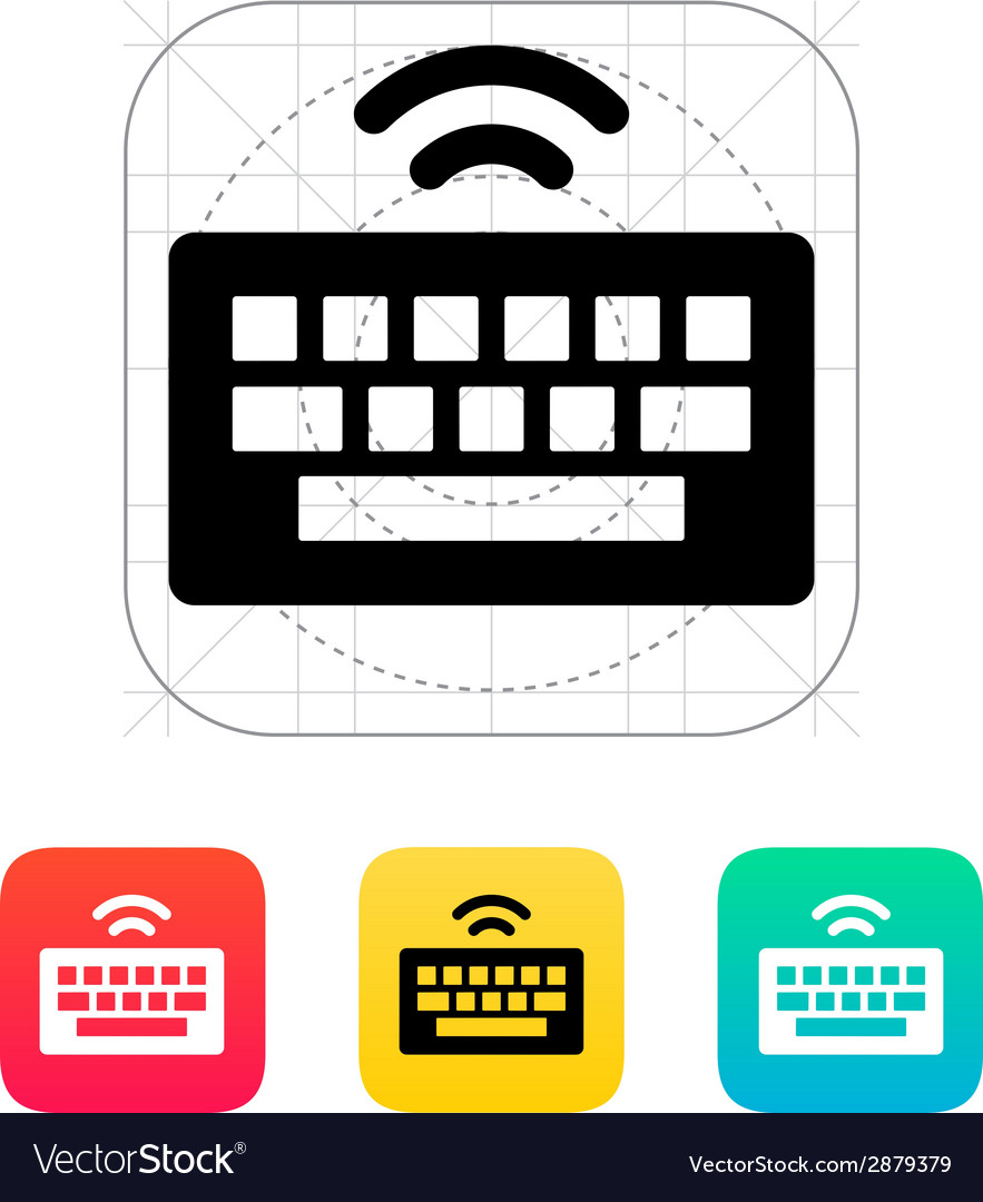 Wireless keyboard icon vector | Price: 1 Credit (USD $1)