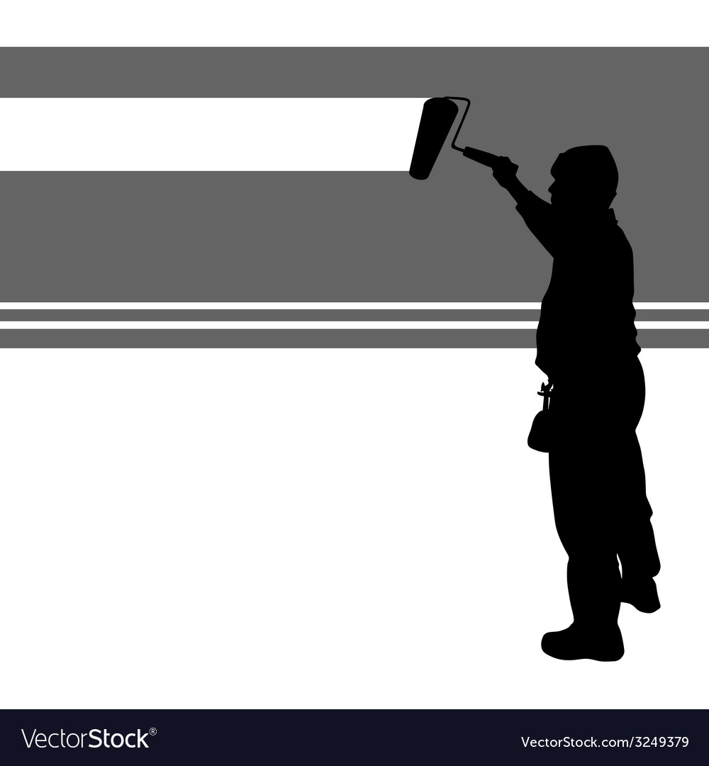 Worker paint wall vector | Price: 1 Credit (USD $1)