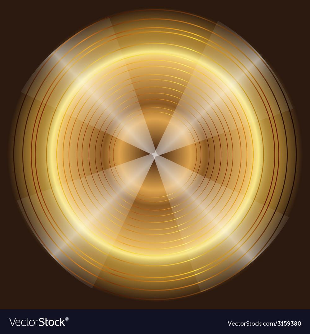 Abstract circular gold black background vector | Price: 1 Credit (USD $1)