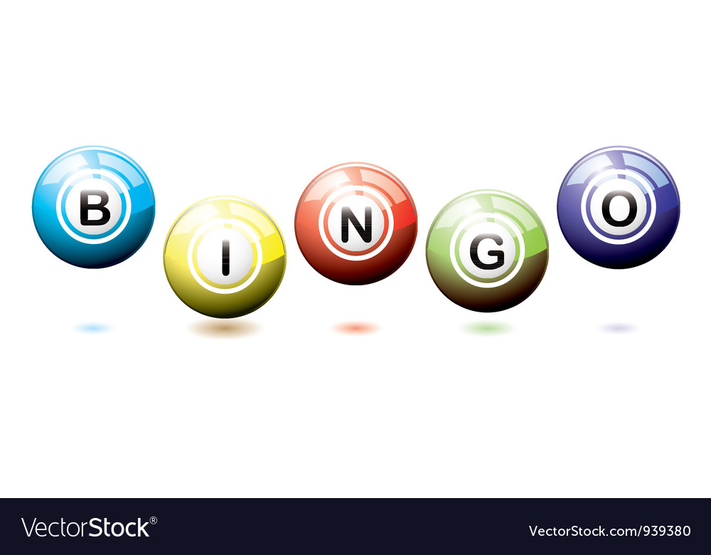 Bingo balls bounce vector | Price: 1 Credit (USD $1)