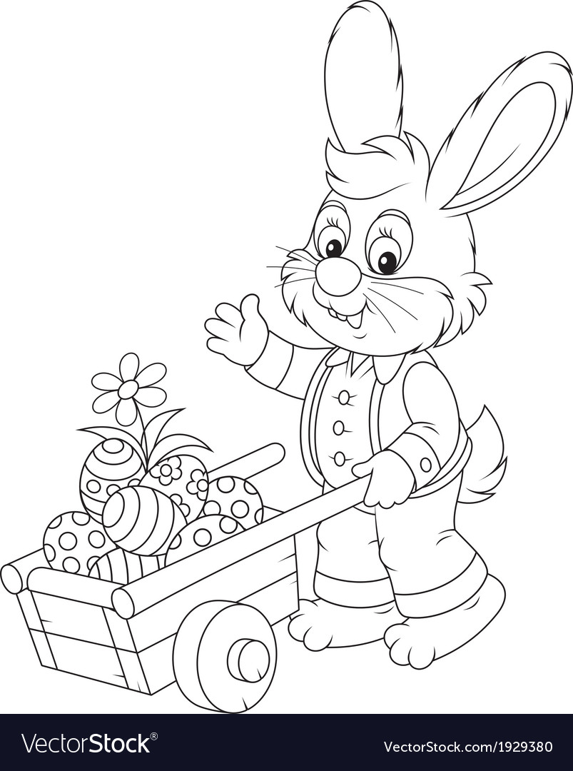 Easter bunny vector   Price: 1 Credit (USD $1)