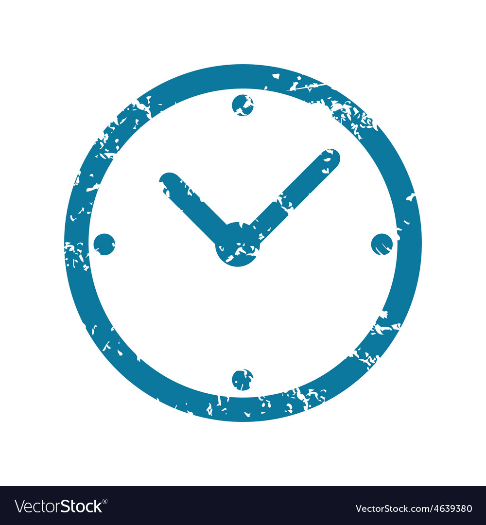 Grunge clock icon vector | Price: 1 Credit (USD $1)