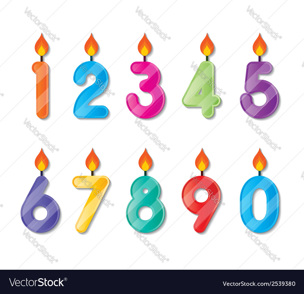 Number candles vector | Price: 1 Credit (USD $1)