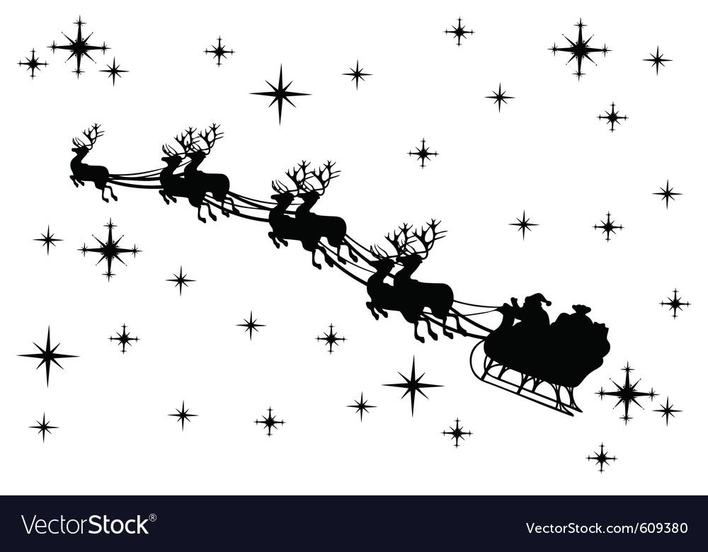 Santa claus silhouette vector | Price: 1 Credit (USD $1)