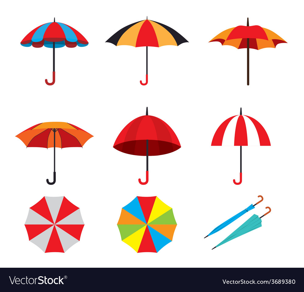Umbrella design over white background vector | Price: 1 Credit (USD $1)