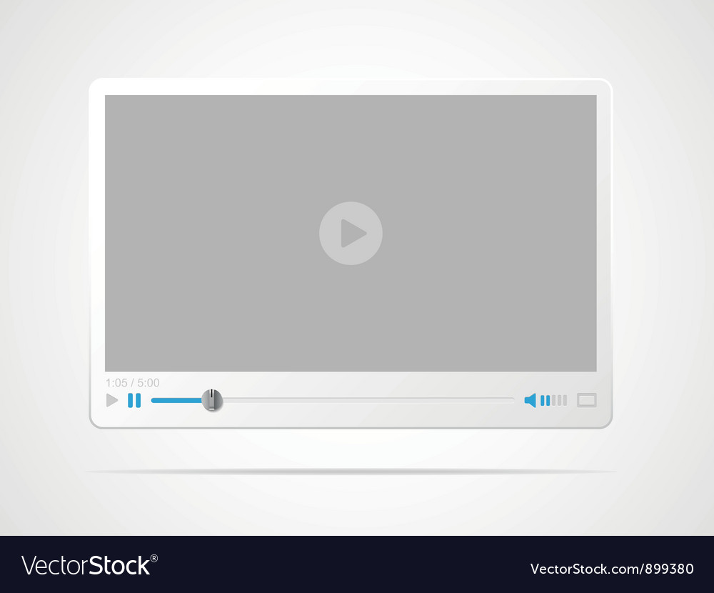 Video player interface vector | Price: 3 Credit (USD $3)