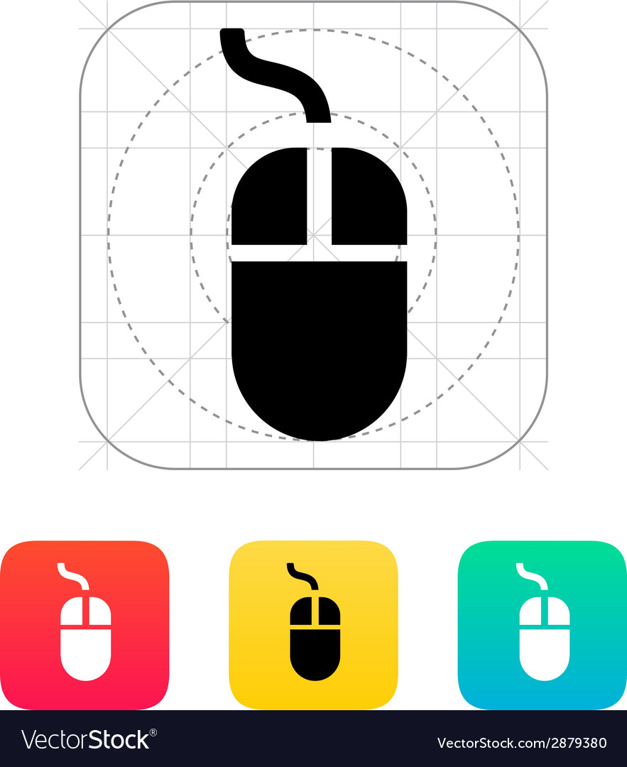 Wired mouse icon vector   Price: 1 Credit (USD $1)