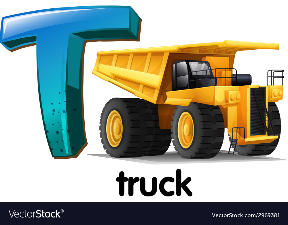 A letter t for truck vector | Price: 1 Credit (USD $1)