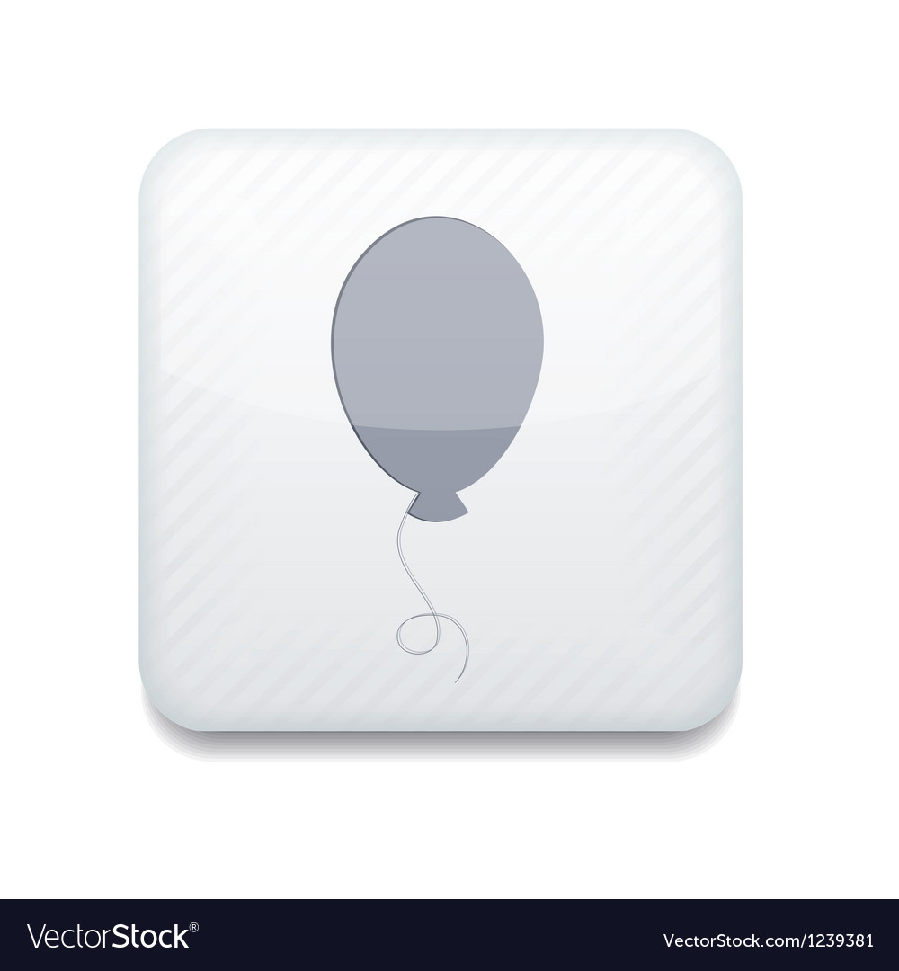 Balloon white icon vector | Price: 1 Credit (USD $1)