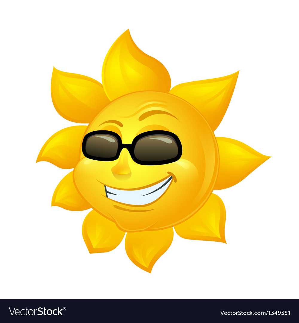 Cartoon sun in sunglasses vector | Price: 1 Credit (USD $1)