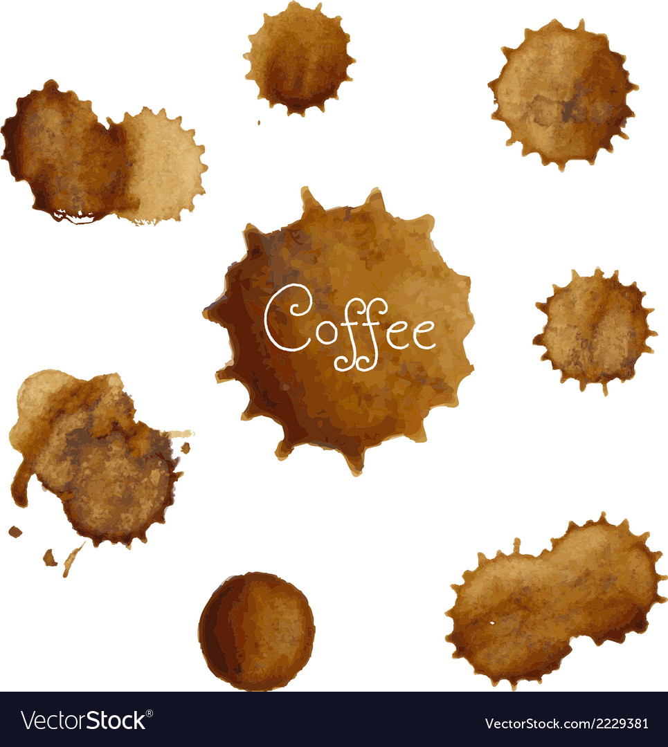 Coffee stains big set vector | Price: 1 Credit (USD $1)