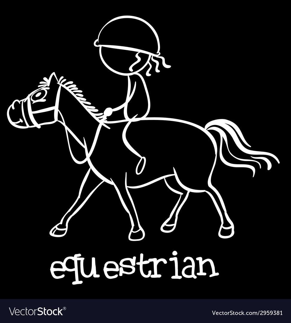 Equestrian vector   Price: 1 Credit (USD $1)