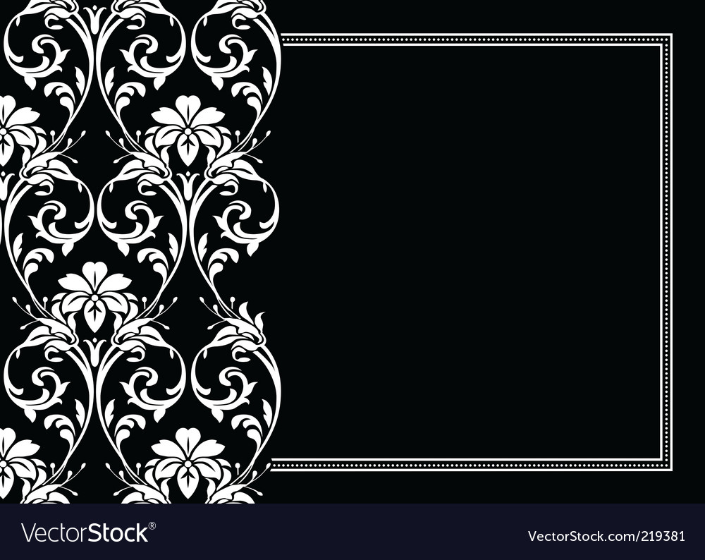 Flourish frame vector | Price: 1 Credit (USD $1)