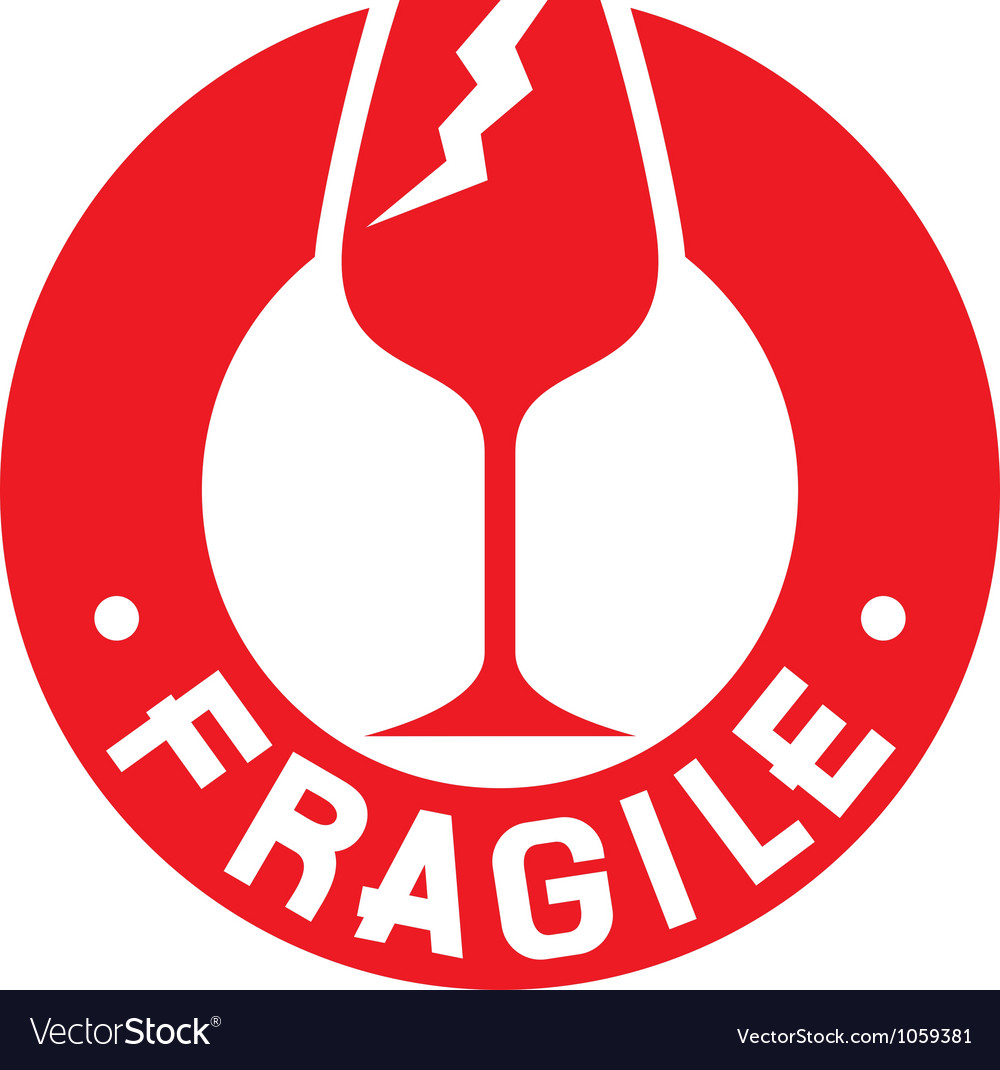Fragile stamp - fragile symbol vector | Price: 1 Credit (USD $1)