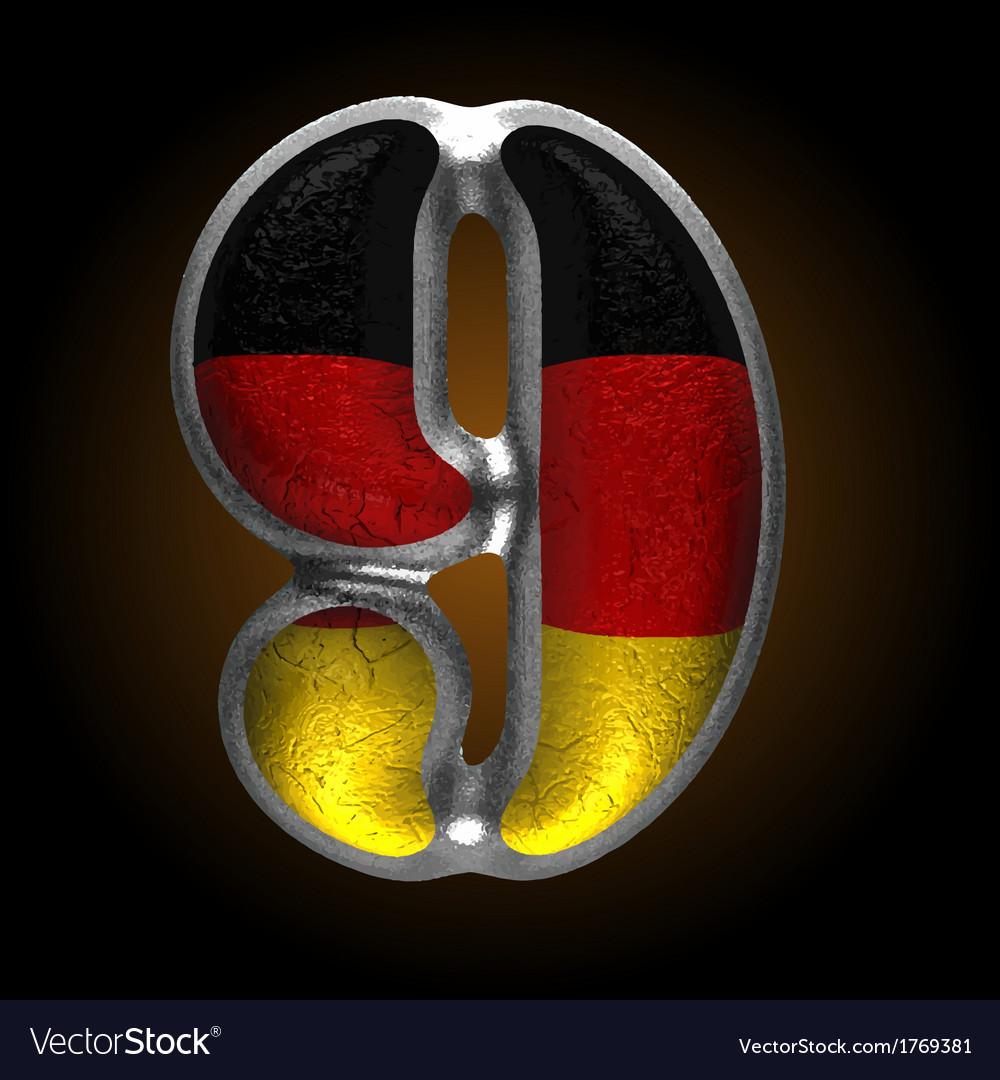 Germany metal figure 9 vector | Price: 1 Credit (USD $1)