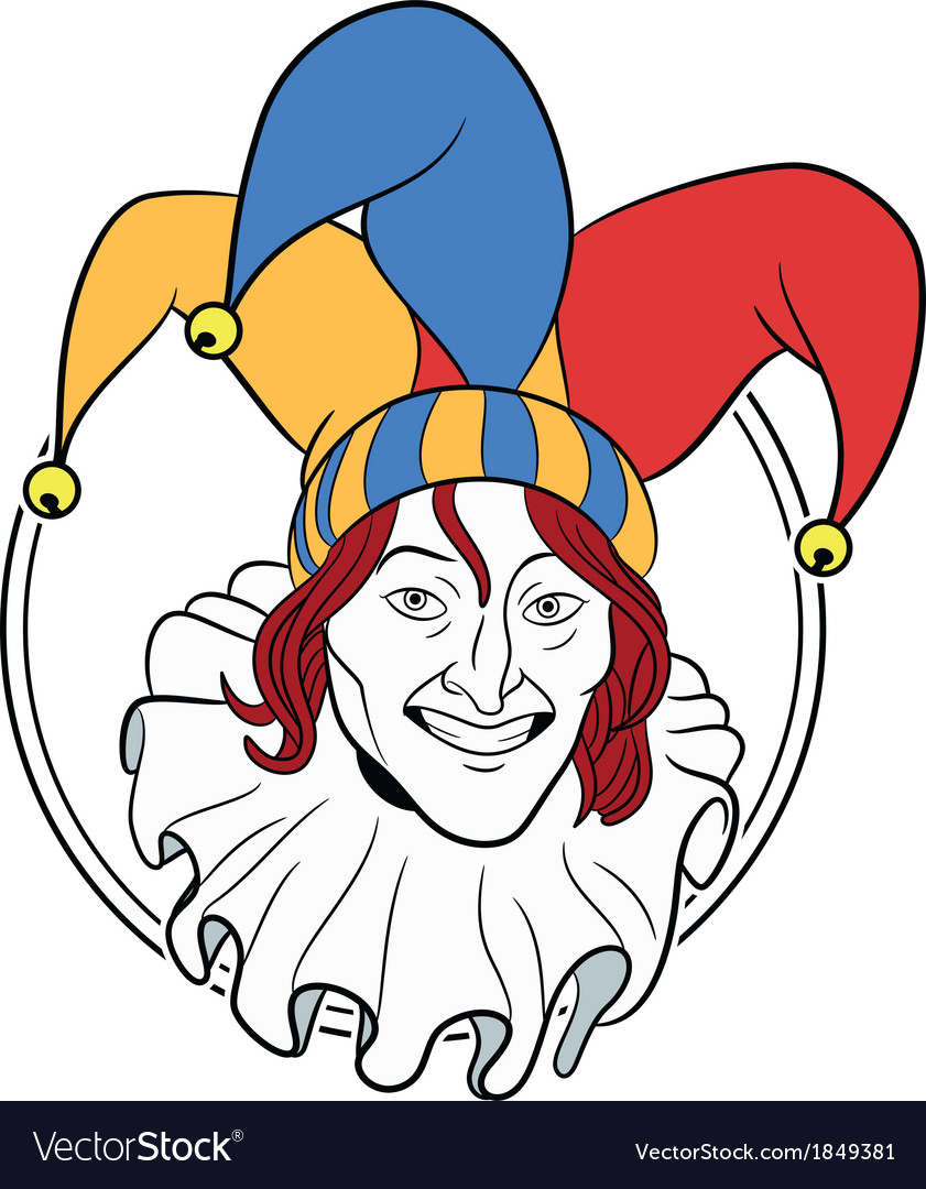 Jester face vector | Price: 1 Credit (USD $1)
