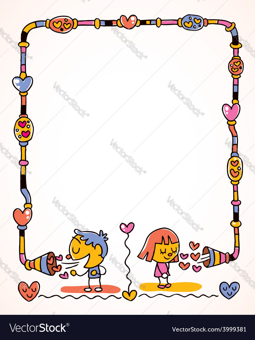 Love message frame vector | Price: 1 Credit (USD $1)