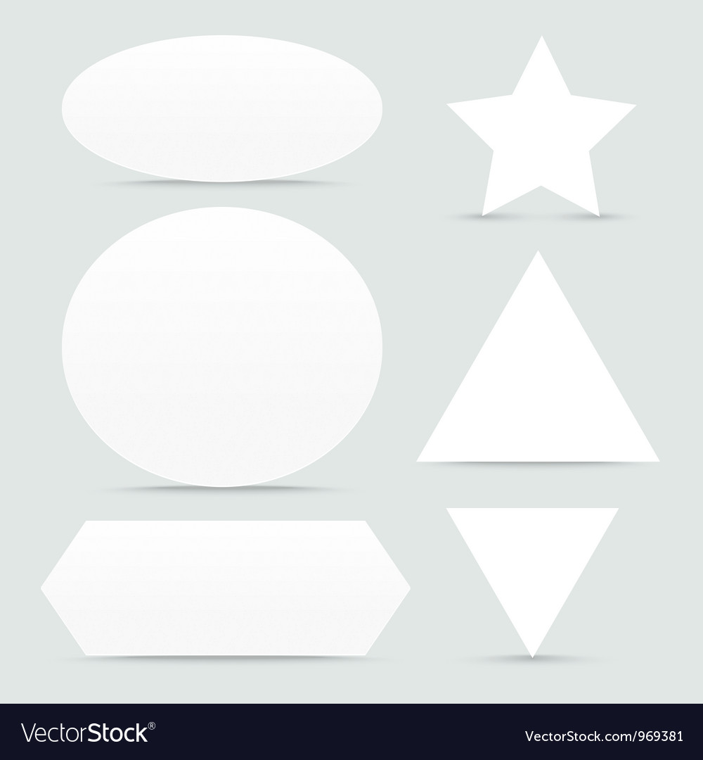 Paper banner shapes set vector | Price: 1 Credit (USD $1)