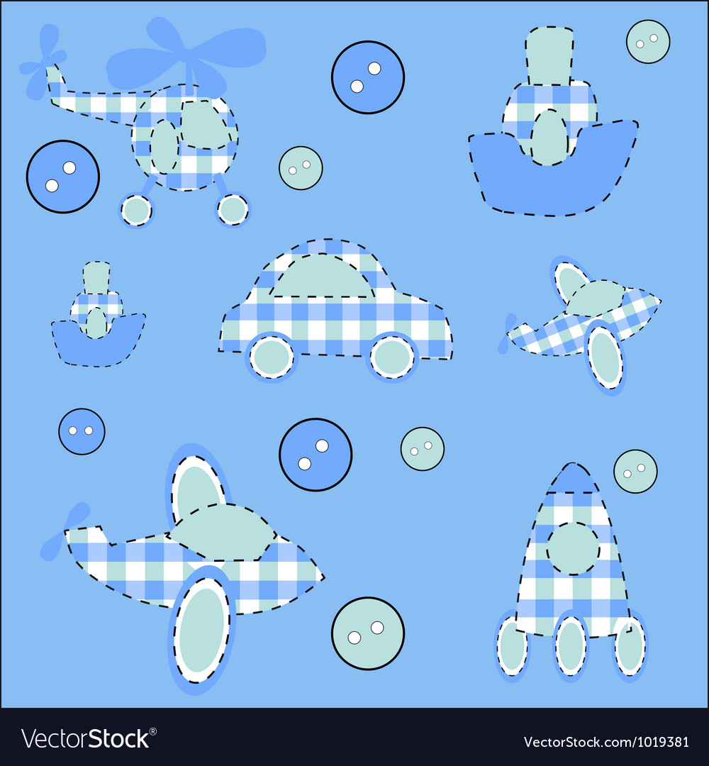 Seamless pattern with plane helicopter missile a vector | Price: 1 Credit (USD $1)