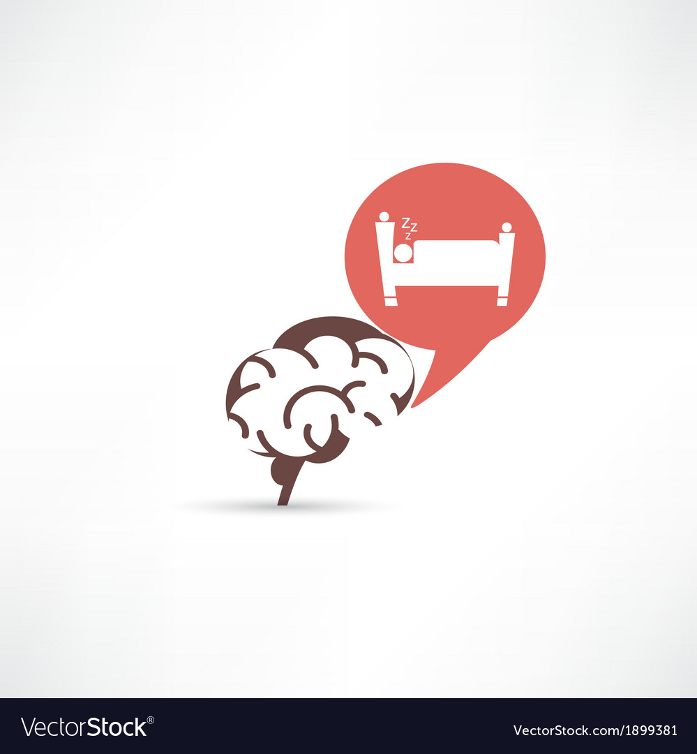 Update brain cells sleeping icon vector | Price: 1 Credit (USD $1)