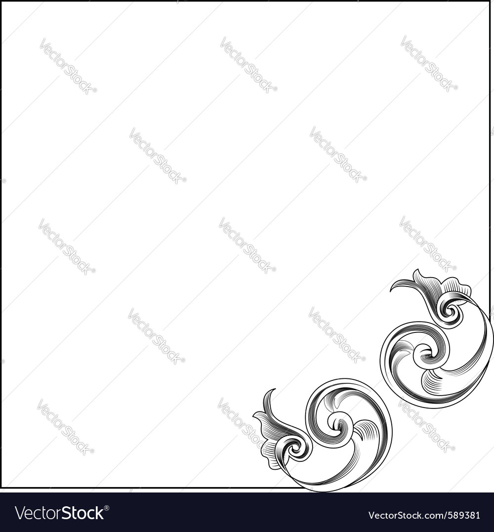 Victorian style corner decoration vector | Price: 1 Credit (USD $1)