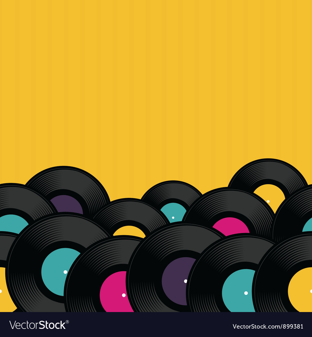Vinyl record background vector | Price: 1 Credit (USD $1)