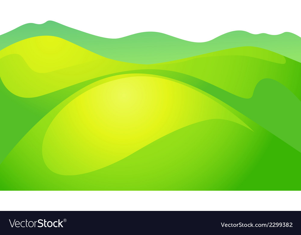 Abstract green meadow vector | Price: 1 Credit (USD $1)