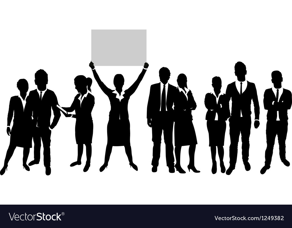 Business people group on a world background vector   Price: 1 Credit (USD $1)