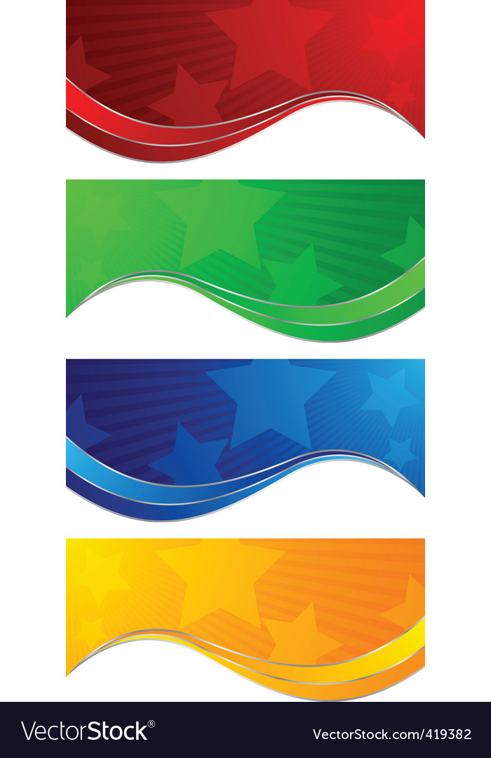 collection colorful banners vector | Price: 1 Credit (USD $1)