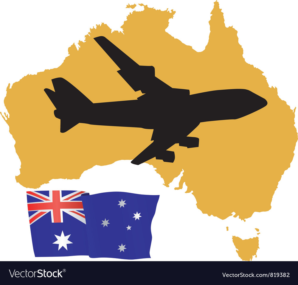 Fly me to the australia vector | Price: 1 Credit (USD $1)