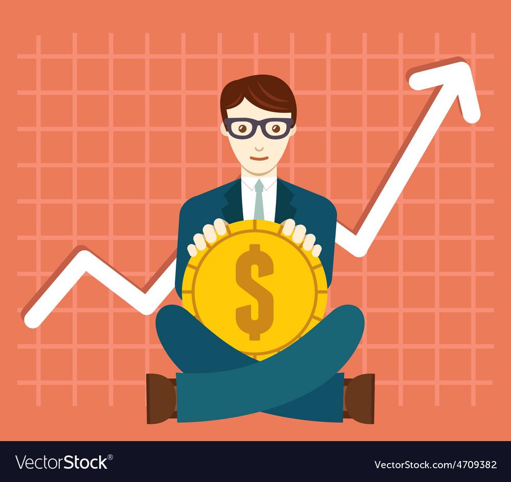 Foreign exchange market appreciation of dollar vector | Price: 1 Credit (USD $1)