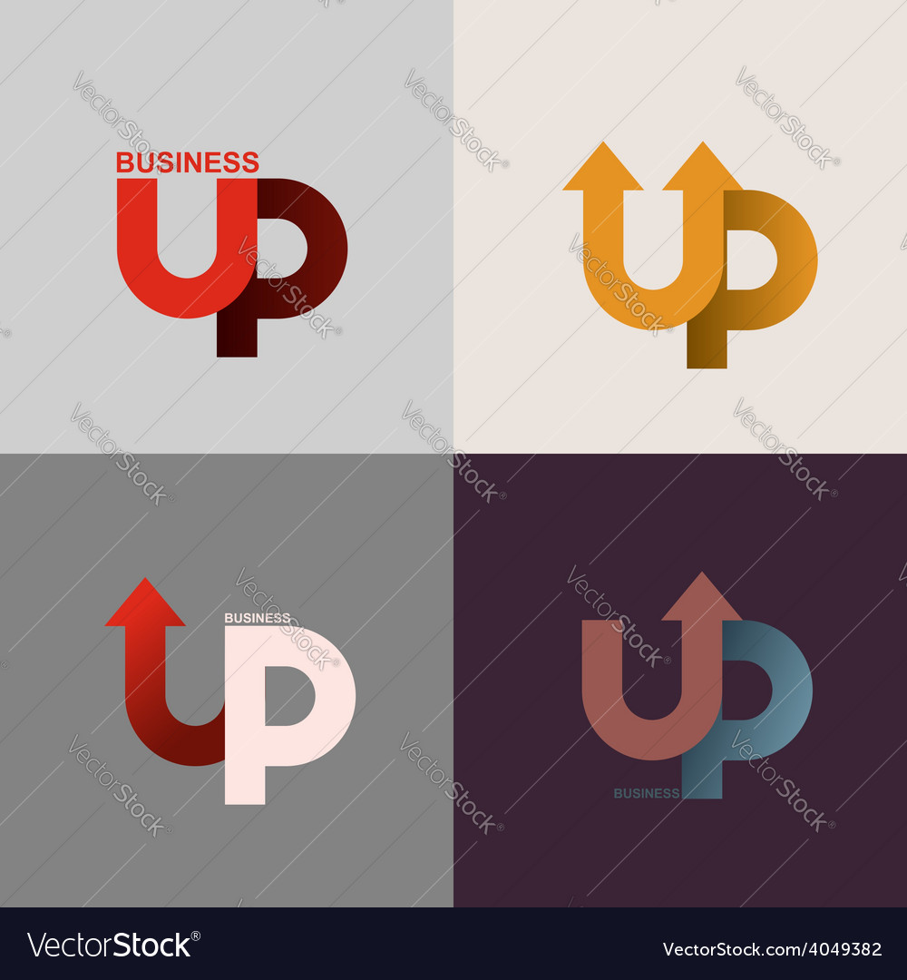 Logo of the up arrow business application icon vector | Price: 1 Credit (USD $1)
