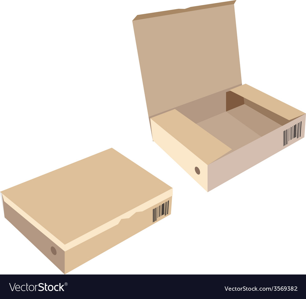 Opened and closed brown boxes vector | Price: 1 Credit (USD $1)