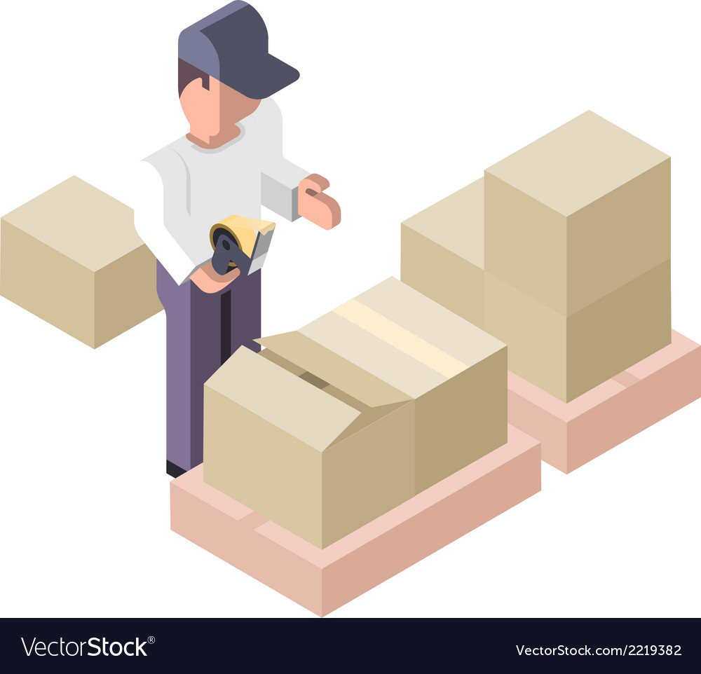 Packing distribution center vector | Price: 1 Credit (USD $1)