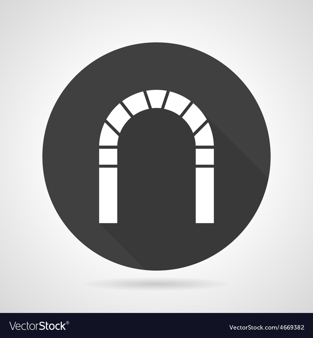 Round arch black icon vector | Price: 1 Credit (USD $1)